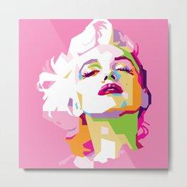Marilyn in WPAP Metal Print
