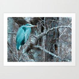 Blue Blue Heron Art Print