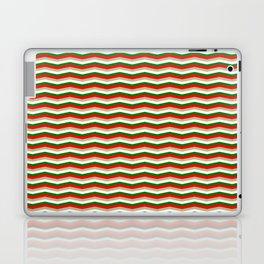 Red Green White and Gold Christmas Wavy Chevron Stripes Laptop & iPad Skin