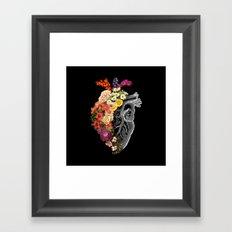 Flower Heart Spring Framed Art Print