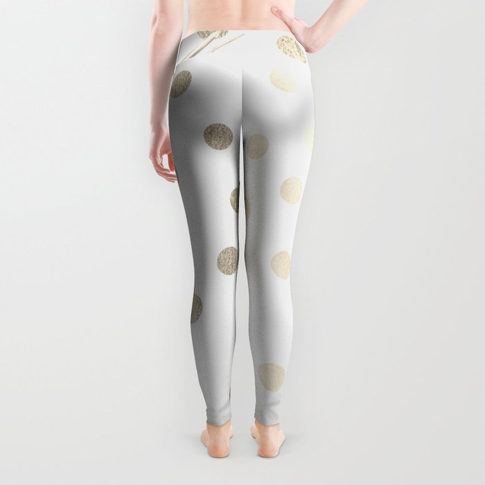 Gold Pineapple Polka Dots 1 Leggings