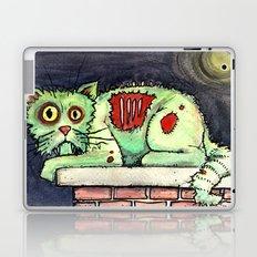zombie cat on the wall Laptop & iPad Skin