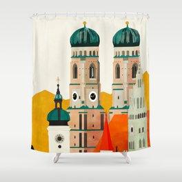 travel europe germany munich Shower Curtain