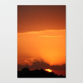 Summer Sunset in Bright Colours Canvas Print