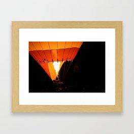Hot Air Baloon Framed Art Print
