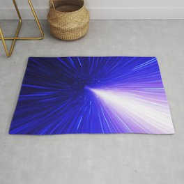 High energy particles traveling through space-time Rug