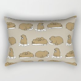 Family marmots Rectangular Pillow