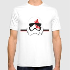 fn 2187 White MEDIUM Mens Fitted Tee
