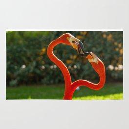 Flamingo heart Rug