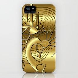 Magical Kokopelli in Gold iPhone Case
