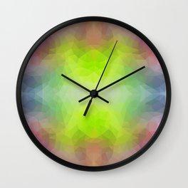 """Disco vibes"" triangles design Wall Clock"