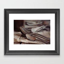 SPOONS II Framed Art Print