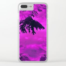 Purple Dreams Clear iPhone Case