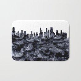 Chicago Skyline Illionois Bath Mat