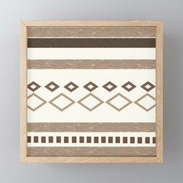 Western Pattern, Out West, Patterns, Brown, Tan, Beige, Shapes, Geometric Western Art Framed Mini Art Print