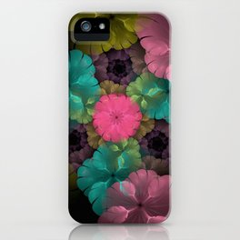 Old Fashioned Flower Garden iPhone Case