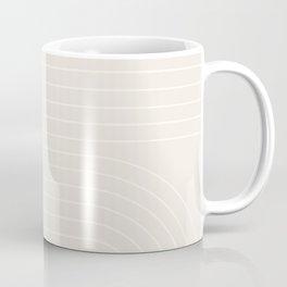 Minimal Line Curvature - Subtle White Coffee Mug
