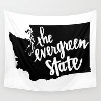 washington Wall Tapestries featuring Washington State by Caleb Swenson