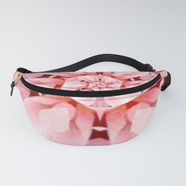 pink coral floral whirl digital art Fanny Pack