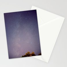 Meteors near the Milky Way Stationery Cards