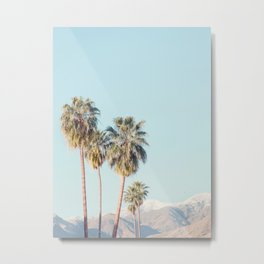 Palm Springs Palm Trees - Minimalist California Travel Photography Metal Print