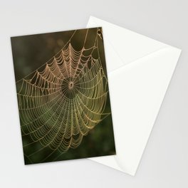 Spider Web and Morning Mist Stationery Cards