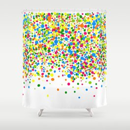 Rain of colorful confetti Shower Curtain