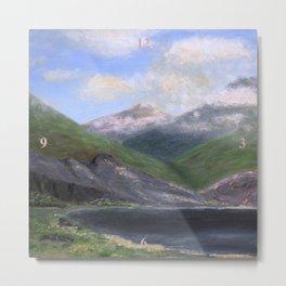 Isle of Rhum, original artwork, oils on board Metal Print