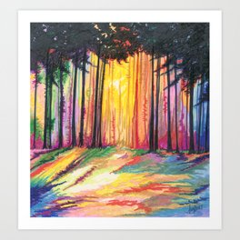 Paint The Forest Art Print