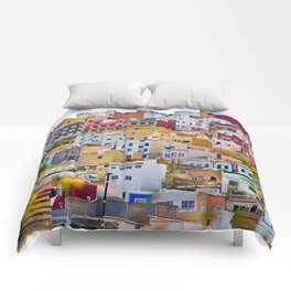 Edificios Colores Las Palmas Comforters