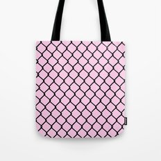 Chain Link Black on Blush Tote Bag