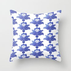 Blue floral pattern 1 Throw Pillow