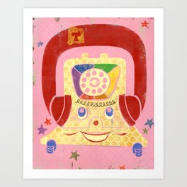 T is for Telephone Art Print