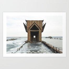 Marquette Ore Dock   Upper Peninsula, Michigan   John Hill Art Print