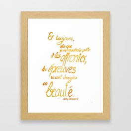 ... changing into beauty Framed Art Print