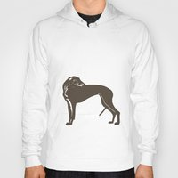 greyhound Hoodies featuring Greyhound Dog by ialbert