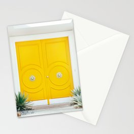 Yellow Door - Midcentury Modern Palm Springs Photography Stationery Cards
