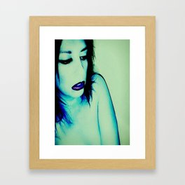 It Was All Electric Blue Framed Art Print