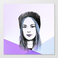gemma Canvas Prints featuring Gemma by bylosangeles