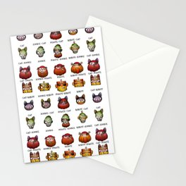 Cat Zombie Pirate Robot Stationery Cards