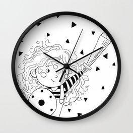 Little Warrior Wall Clock