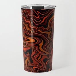 Black & Red Liquid Agate Travel Mug