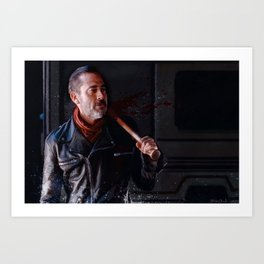 Negan And Lucille - The Walking Dead Art Print