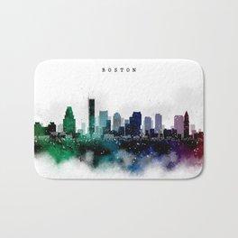 Boston Watercolor Skyline Bath Mat
