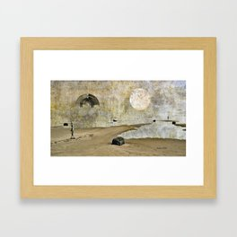 Aliens beached Framed Art Print