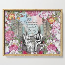 Excellent Library - Pride and Prejudice Serving Tray