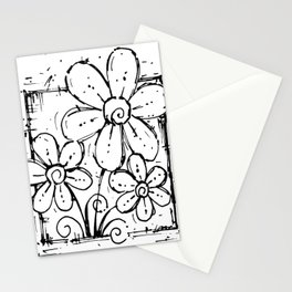 Scribble Doodle Flowers No.5A by Kathy Morton Stanion Stationery Cards