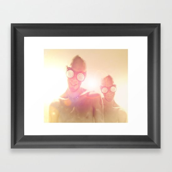 Am I dead? Framed Art Print