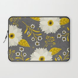 Cream and Grey Floral Collage Laptop Sleeve