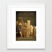 skyline Framed Art Prints featuring skyline by Ammar ZABOUN